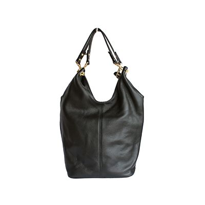 Roberta Italian Black Leather Hobo Bag - £59.99