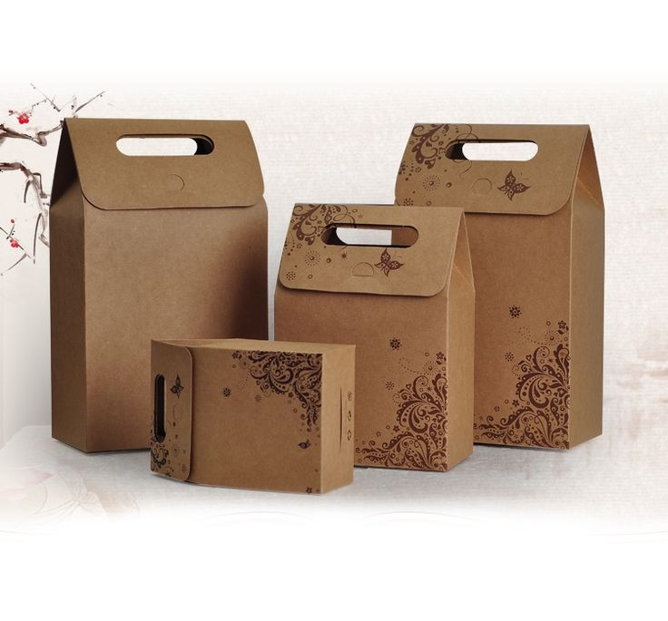 37.9$  Buy here - Free shipping 50pcs Kraft paper packing box with beautiful pattern,Portable food packing box,Nougats box,Tea packing bag   #SHOPPING