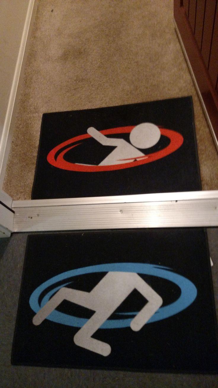 Portal door mats