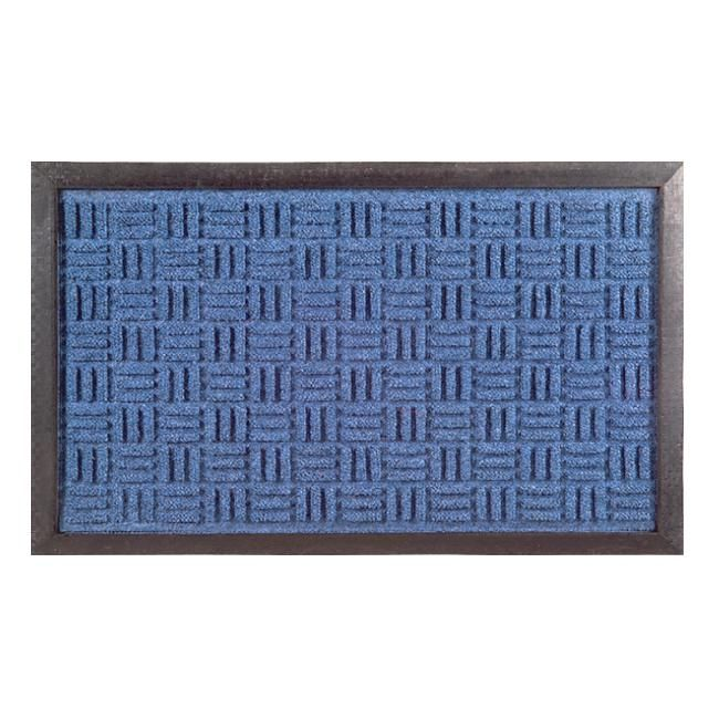 Imports Decor Synthetic Blue Door Mat (24 x 16) (Rubber)