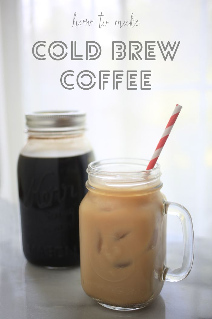 How to Make Cold-Brew Coffee. This seems simple and would be good for a small get-together