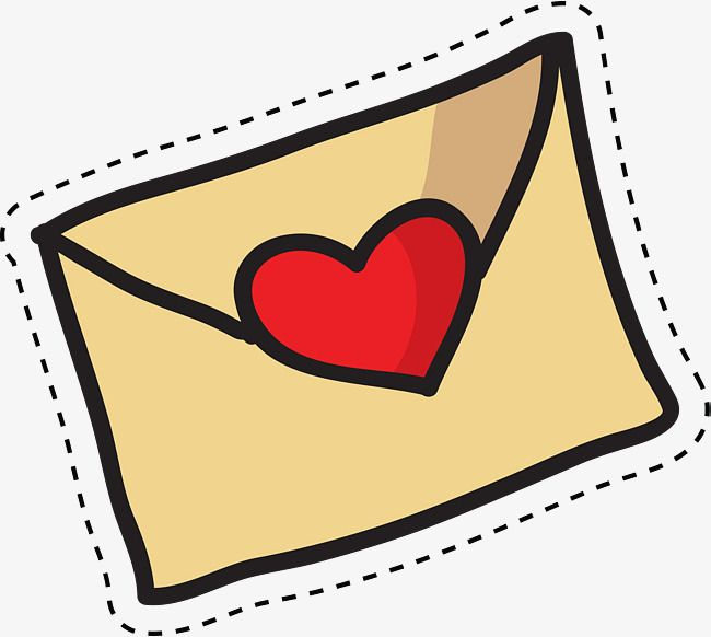 Cartoon Lovely Love Envelope Png And Vector Cartoons Vector Cartoon Lovely