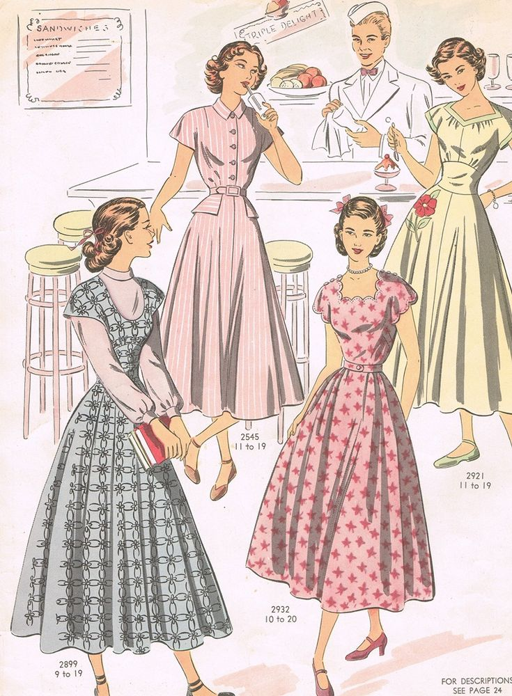 Vintage Pattern - Spring Fashions 1949 This pattern could look very modern in a 2014 fabric.