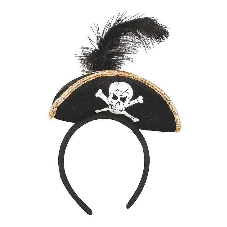 Plush Pirate Headband - OrientalTrading.com