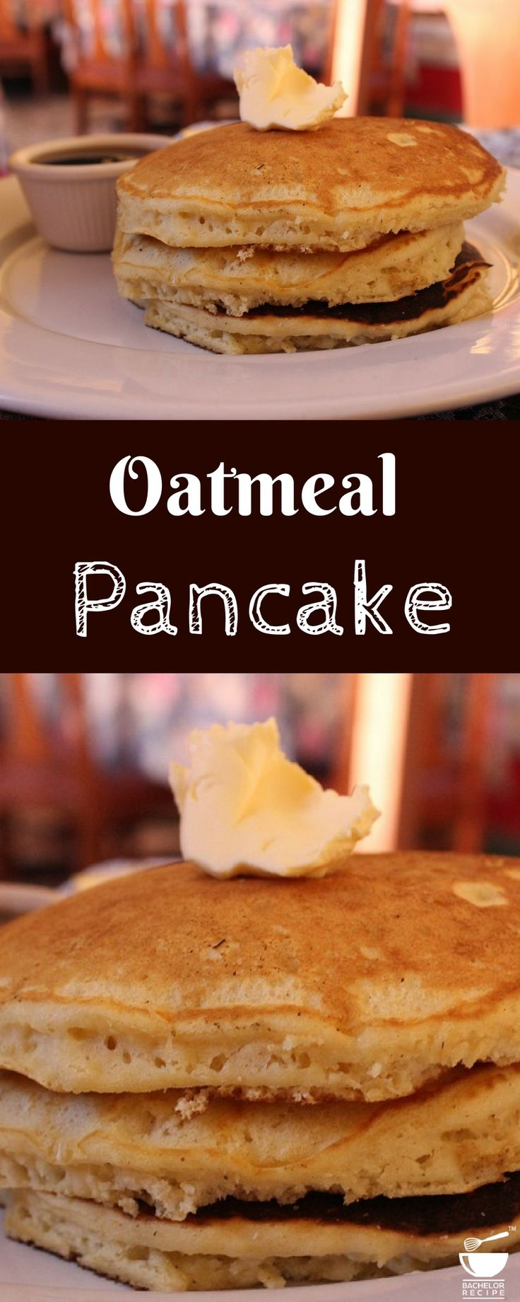 An easy Pancakes recipe perfect with fresh fruit for breakfast. #breakfast #easy #pancake  #oats #oatmeal #healthy #workout #fitness #fit