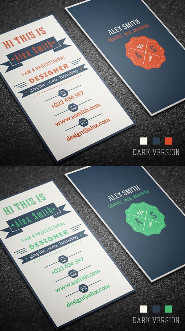 Retro Business Card #businesscards #businesscardtemplates #custombusinesscards