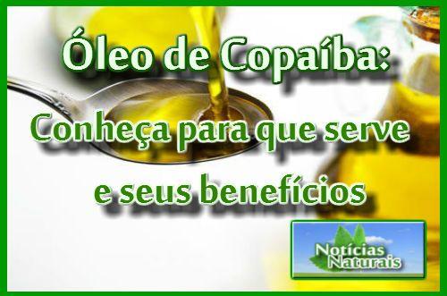 Óleo de copaíba é uma riqueza brasileira, presente de forma especial na Amazônia.É um óleo bastante estudado, havendo uma grande quantidade de artigos científicos sobre os seus benefícios. O óleo de copaíba, podemos assim dizer, é um produto natural, (quando ele é extraído e manipulado de forma co