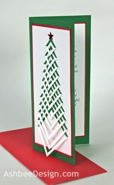 This is an interesting design element... Have to think about how I can incorporate it! Handmade Christmas Card by Marji Roy of AshbeeDesign.com