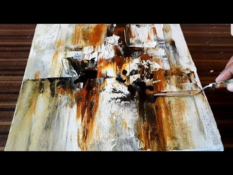 Making of Abstract Painting / Palette Knife & Acrylic / Project 365 Days / Day # 086 – YouTube