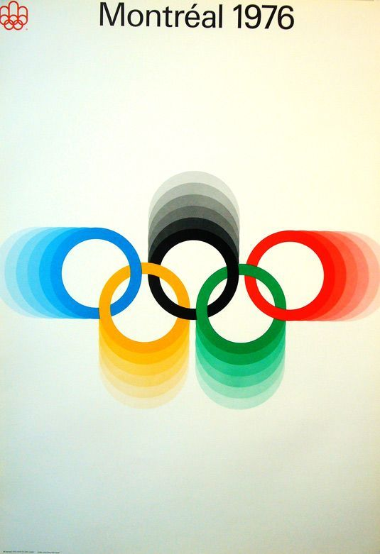 Retro graphic design | poster for 1976 Montreal Olympics