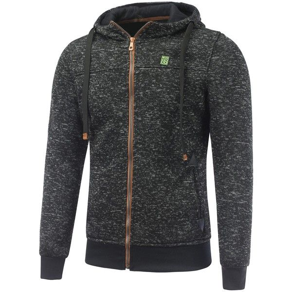 Hooded Cotton Blends Applique Zip Up Hoodie (44 BAM) ❤ liked on Polyvore featuring men's fashion, men's clothing, men's hoodies, mens sweatshirts and hoodies, mens zip up hoodies and mens hoodies