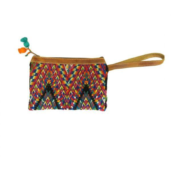 Fair Trade Huipil Wristlet Clutch Purse // Pineapples Coconuts Kombis