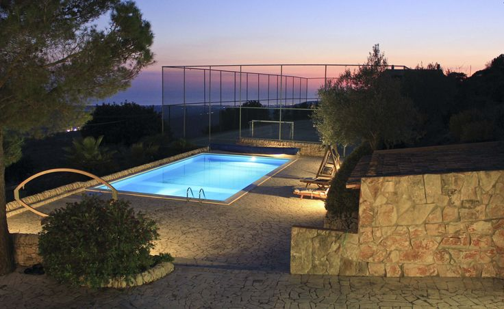 Villa di lusso Demetra (piscina by night) - Luxury villa Demetra (pool by night)