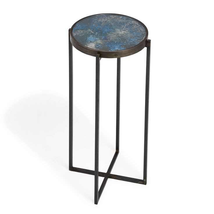 Echo Ocean Blue Round Drink Table