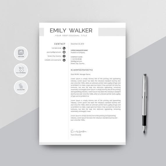 Cv Template Word Cv Resume Template Cv Design Resume For Word Professional Resume Modern Cv Resume Best Resume Template Resumes 2021 Creative Resume Templates Resume Template Professional Resume Template Etsy
