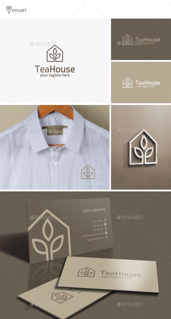 Tea House Logo Template PSD, Vector EPS, AI. Download here: http://graphicriver.net/item/tea-house-logo/14450557?ref=ksioks