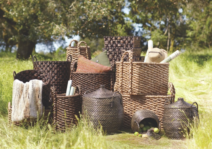 #WorldMarket Safari-Style Solutions. Hancrafted baskets organize & adorn in one step.