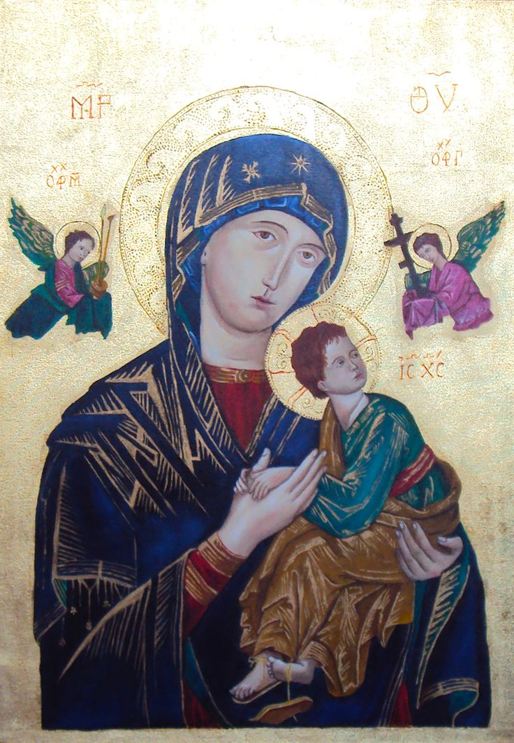 Nossa Senhora do Perpétuo Socorro 50x70cm óleo sobre tela