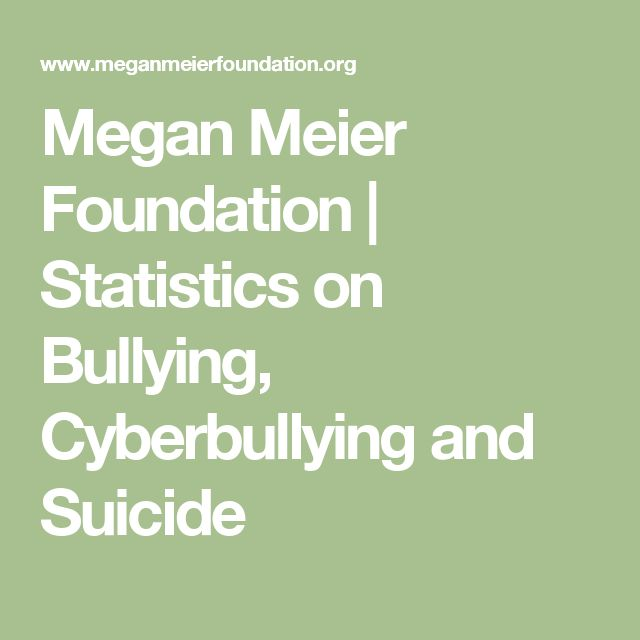 Megan Meier Foundation | Statistics on Bullying, Cyberbullying and Suicide