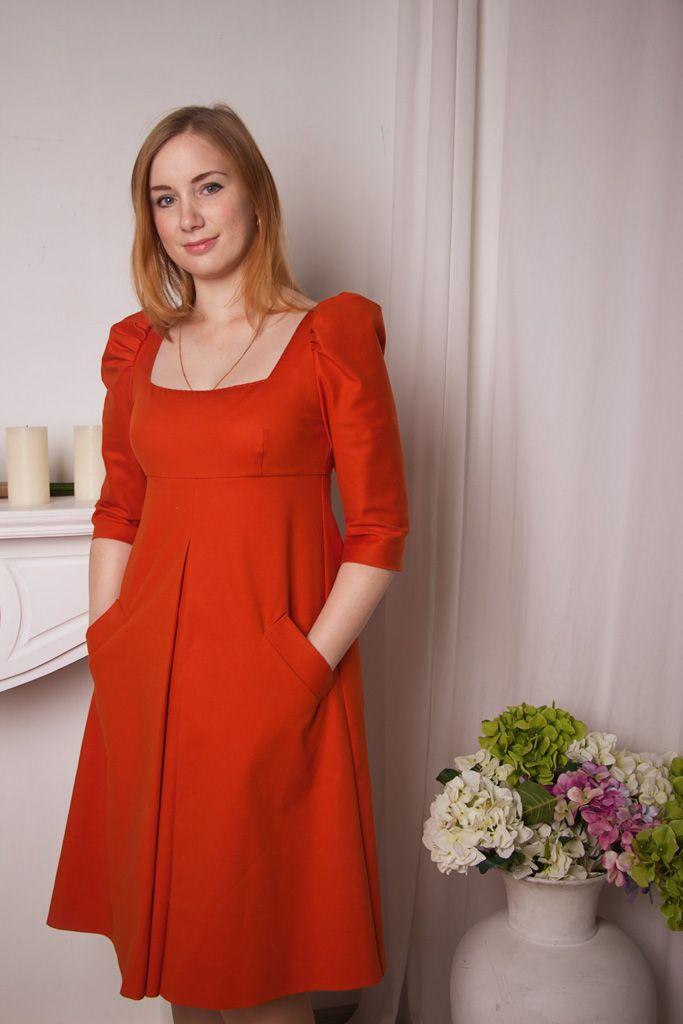 Любовь (Lyuba_V): Платье из ткани Хурма. Цвет бесподобный и сама ткань волшебная! На ощупь очень приятная. Единственный недостаток - мнётся сильно. И в этом платье жалко садиться, надо только ходить и стоять))