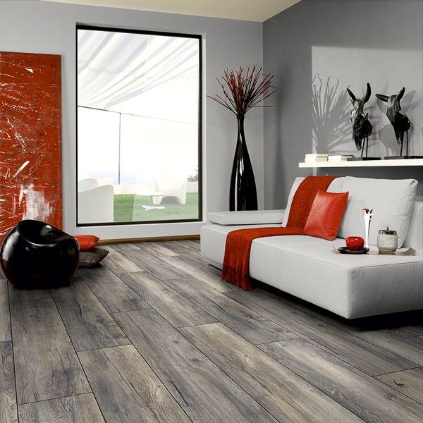 Kronotex 12mm Estate Grey Oak Embossed Laminate Flooring Lowe S Canada Grey Laminate Flooring Oak Laminate Flooring Gray Oak Floor