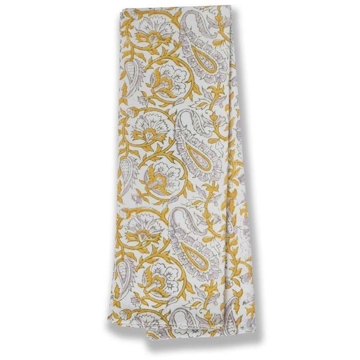 Caravan Lorelai Mustard and Grey Tea Towels Set of Three