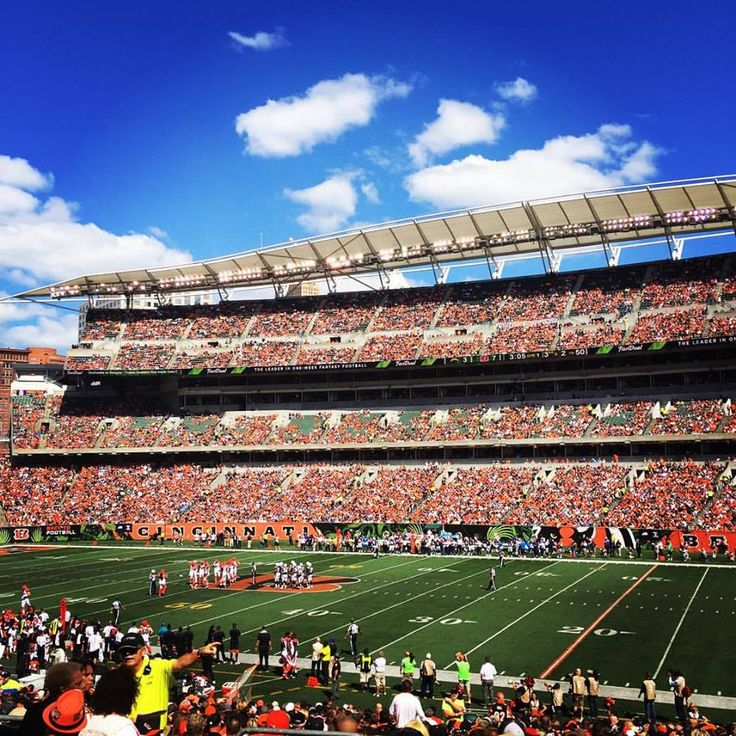 Copywriter Erin visits her home country and catches a NFL game in Cincinnati.