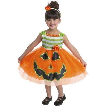 toddler pumpkin halloween costume toddler girlu0027s size 34t multicolor