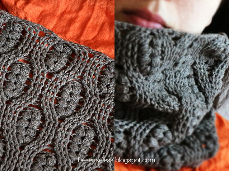 Puff stitch and crochet cables worked in the round. (Italian blog with ...