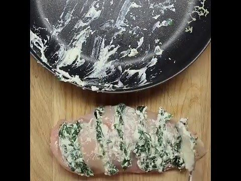 Hasselback Chicken Here S What You Ll Need Splash Of Oil Fresh Spinach Ricotta Cheese 2 Chicken Breasts Cheddar Cheese Paprika Salt Pepper Metho
