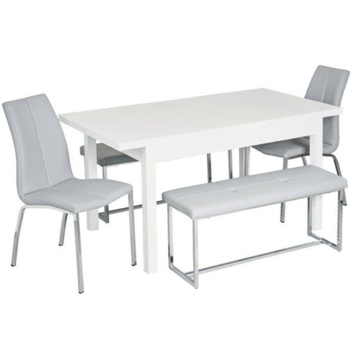 Argos Home Lyssa Extendable Table With 2 Benches & 2