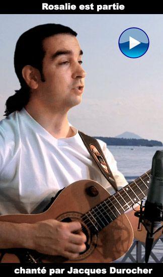 Jacques Durocher chante un standard de la chanson française: Rosalie est partie, vidéoclip utilisant la technique du chromakey.