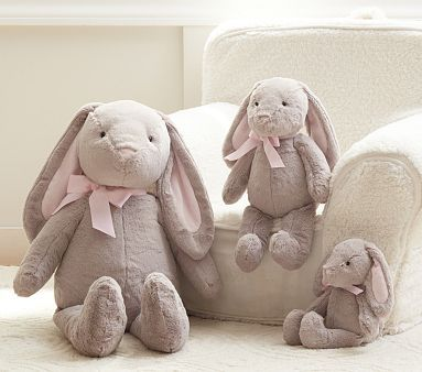 Bunny Plush Collection.  Got two of the medium for the girls. #PotteryBarnKids