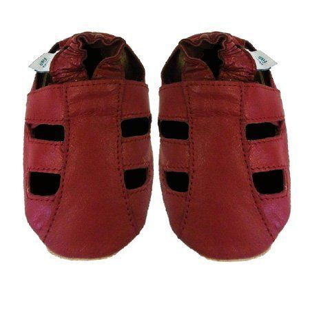 Poissons Dotty - Chaussures En Cuir Souple Pour Bébés - Enfants - Tombé En Panne (2-3 Ans, Étoile Grise Et Rose)