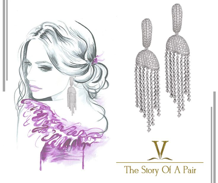 Add charm to your graceful persona with this beautiful pair of diamond studded earrings. An elegant design to enhance your day and night style.