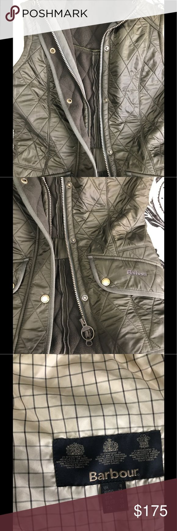 Barbour ladies down vest Brand new. No tags but never worn. As you know their sizing runs small. This is a size 4 and it fits with a sweater. I am usually an S and this will fit a size 0-2. Barbour Jackets & Coats Vests
