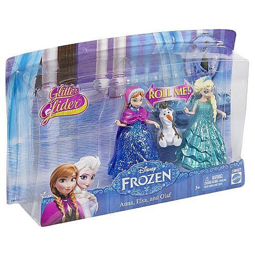 "Disney Frozen Glitter Glider Anna, Elsa and Olaf Doll Set - Mattel - Toys ""R"" Us"