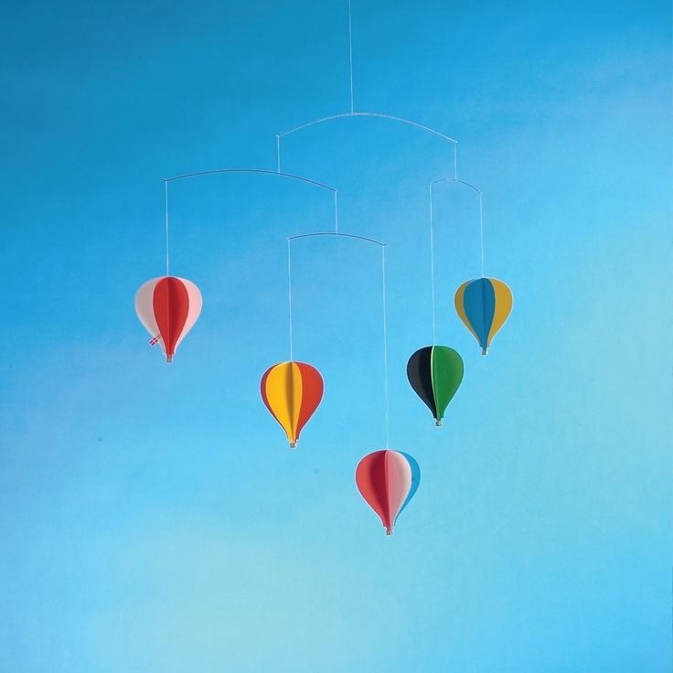 Flensted Balloon Mobile: Airballoon, Nurseries Mobiles, Balloon Mobiles, Hot Air Balloon, Flenst Mobiles, Mobiles Baby, Balloon Nurseries, Mobiles Nurseries, Kids Rooms