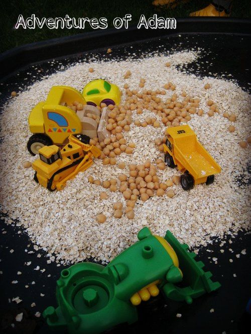 Oats and Chick Pea Building Site – Day 39 Toddler Play Challenge