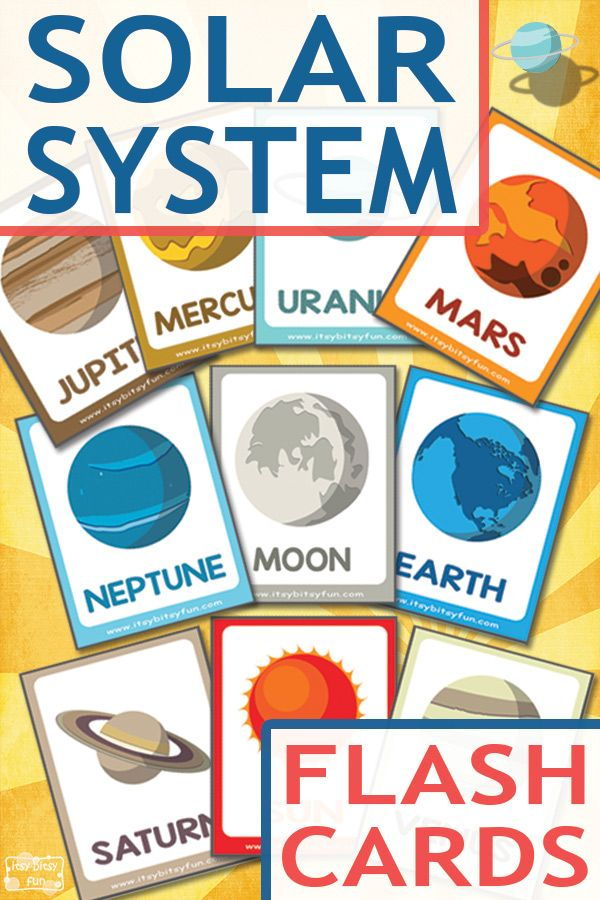 Lovely Free Solar System Flashcards