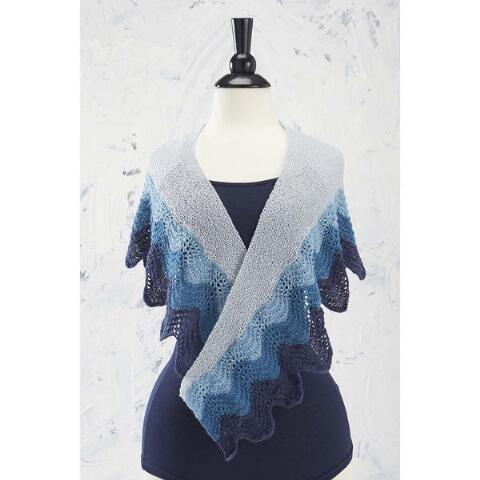 Superior Waves Shawl Free Download- This elegant shawl is the perfect addition to any outfit when you need a little extra warmth