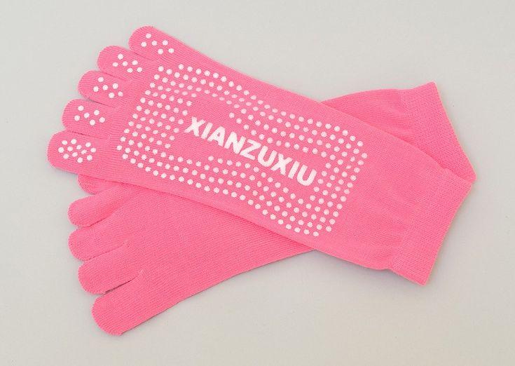 Women's 5 Toes Pilates Socks - Pink #pilates #pilatessocks #socks  #exercise #health #fitness #clothing #grip #dance #yoga #pink #toes