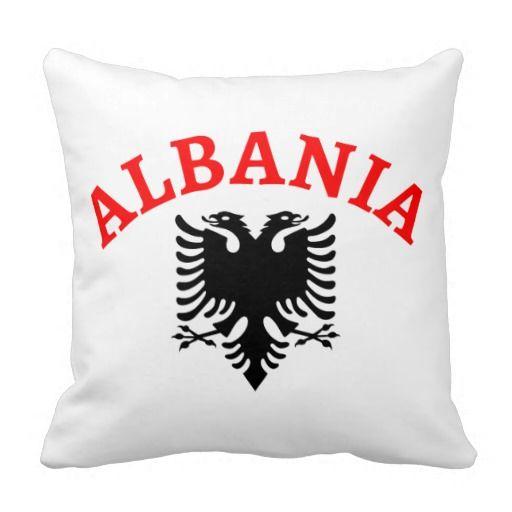 Albania and eagle of the flag - throw pillow - Shqipëria dhe shqiponja e flamurit - jastëqe dekorative