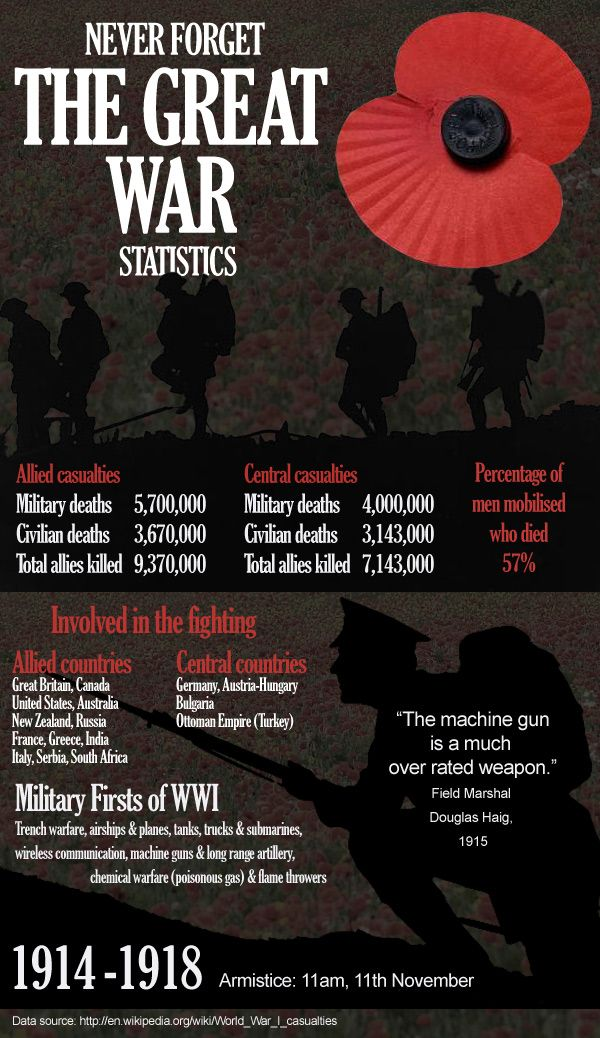 The Great War statistics - never forget #remembranceday