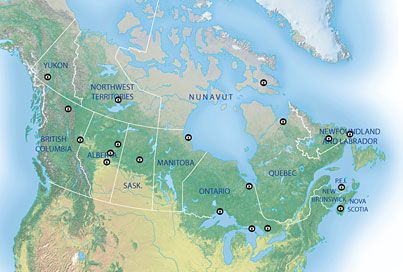 Interactive map: See the northern lights across Canada - Canadian Geographic