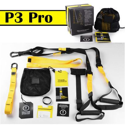 TRX Pro P3 Trainer Fitness Bands Sport Belts Training Resistance Straps For Gym Workout Body Weight With LOGO And BOX