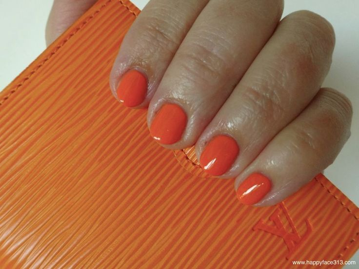 :-) just cosmetics colorazzi nail polish in 110 be crazy and Louis Vuitton Epi Mini Agenda in orange Epi leather :-)