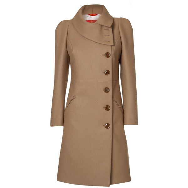 Vivienne Westwood Vivienne Westwood Camel High Collar Coat ($1,140) ❤ liked on Polyvore