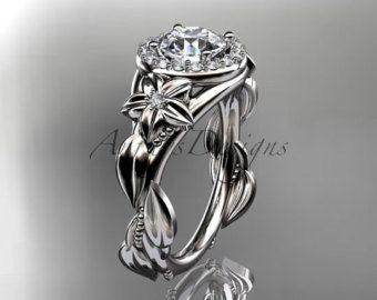 platino diamante unico anello di fidanzamento anello di nozze