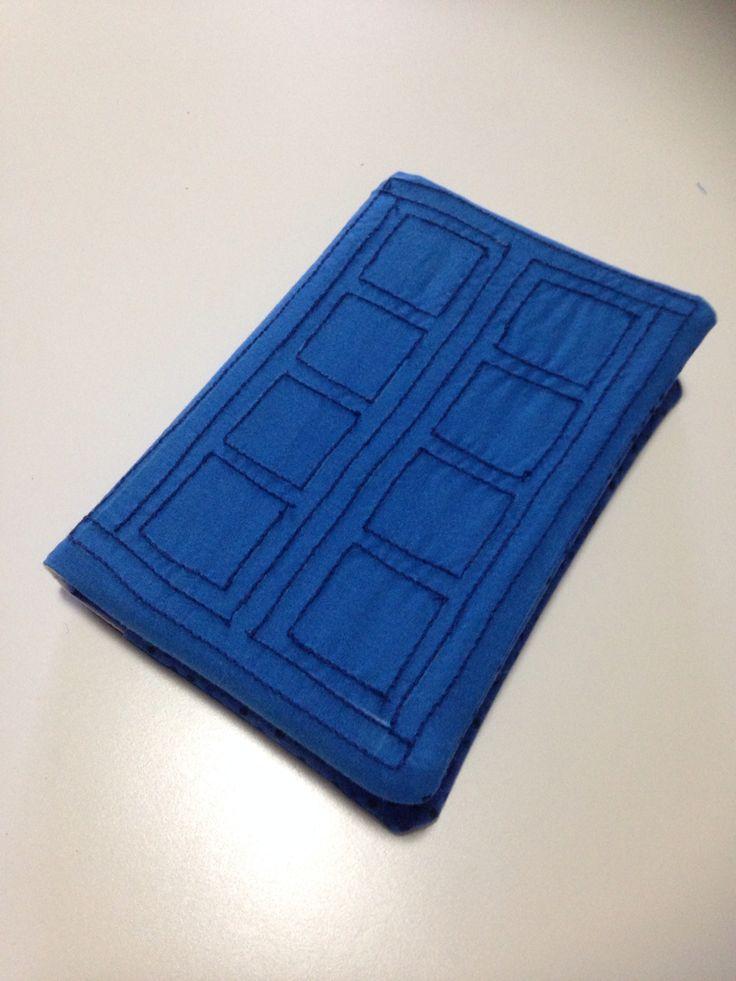 Hand sewn police box book cover